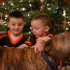 Ever try to get a picture of 2 boys with their dog right before Christmas?  Impossible.